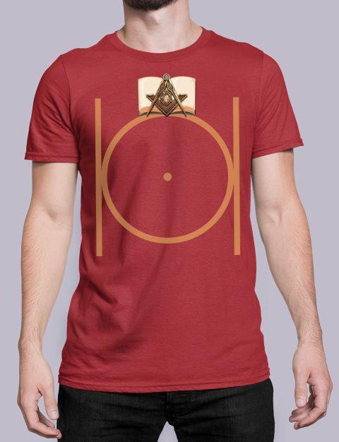 Masonic Freemason T-shirt Masonic Freemason red shirt 22