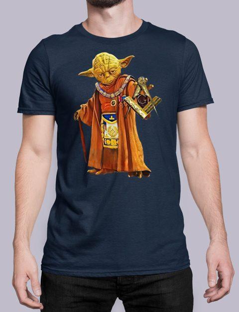 Master Yoda Masonic T-Shirt Master Yoda navy shirt 25