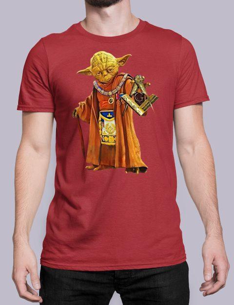 Master Yoda Masonic T-Shirt Master Yoda red shirt 25