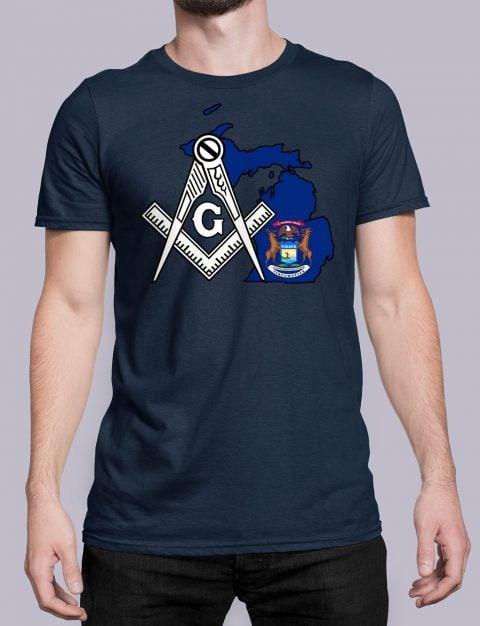 Michigan Masonic Tee Michigan navy shirt