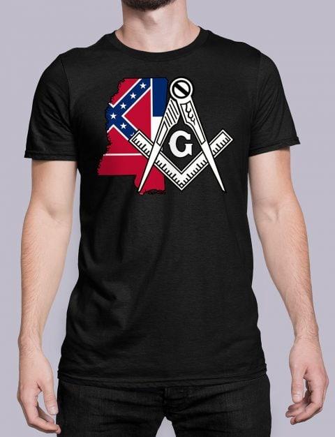 Mississippi Masonic Tee Mississippi black shirt