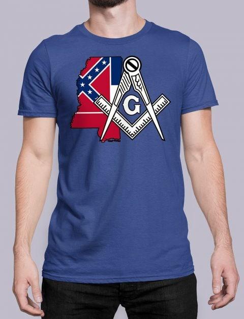Mississippi Masonic Tee Mississippi royal shirt
