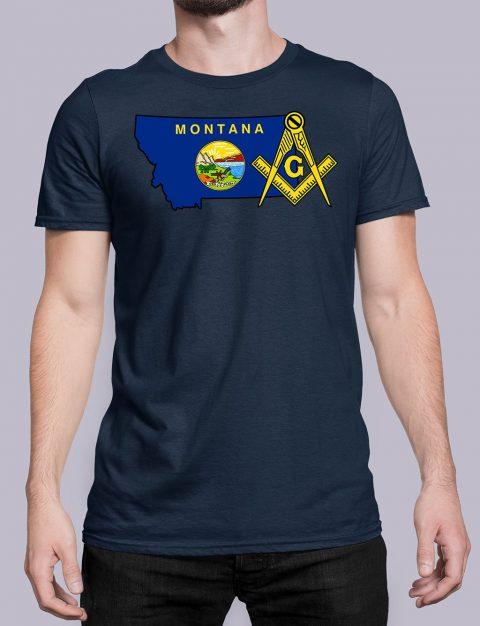 Montana Masonic Tee Montana navy shirt