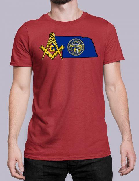 Nebraska Masonic Tee Nebraska red shirt