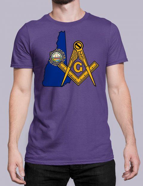 New Hampshire Masonic Tee New Hampshire purple shirt