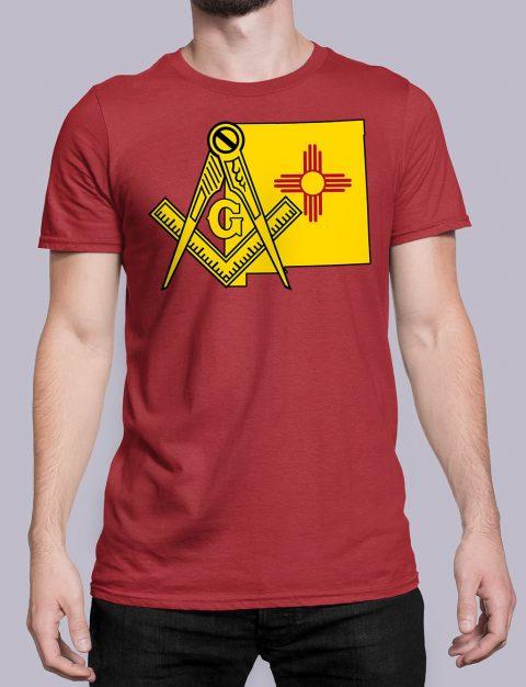 New Mexico Masonic Tee New Mexico red shirt