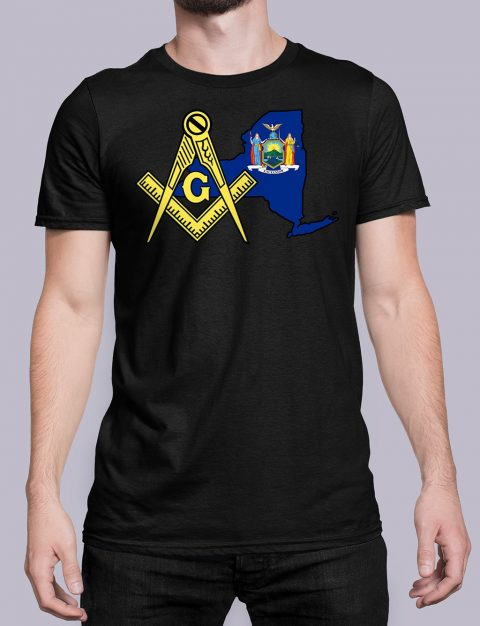 New York Masonic Tee New York black shirt