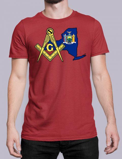 New York Masonic Tee New York red shirt