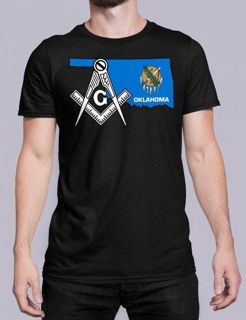 Oklahoma Masonic Tee Oklahoma black shirt