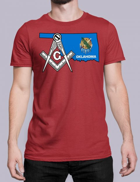 Oklahoma Masonic Tee Oklahoma red shirt