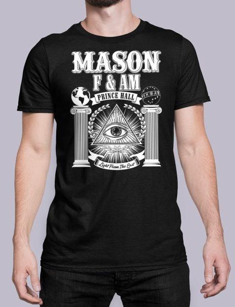 Prince Hall F&AM Masonic T-Shirt Prince Hall FAM black shirt 29
