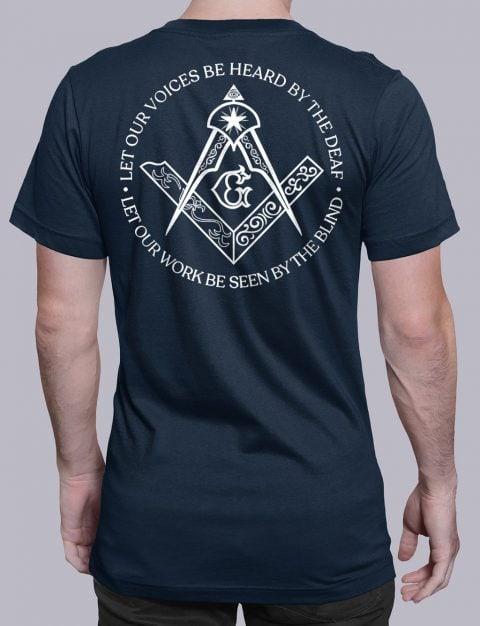 Sacred Work Masonic T-shirt Back Sacred Work back navy shirt back 9