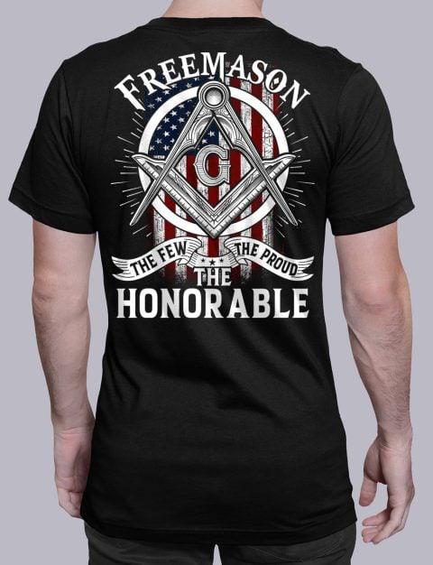 The Honorable Masonic T-shirt The Honorable black shirt back 13