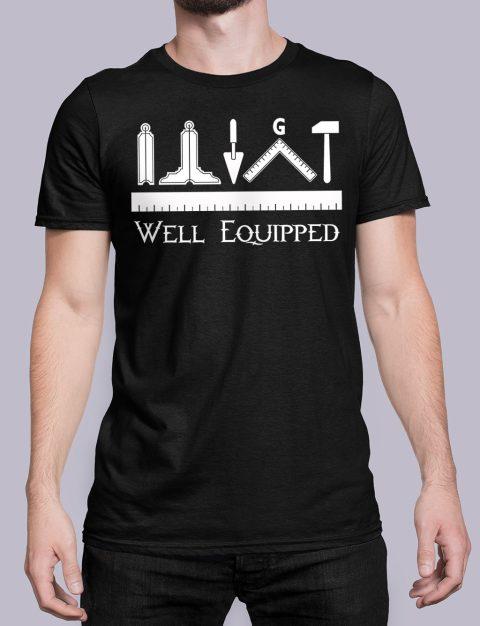 Well Equipped Masonic T-shirt Well Equipped black shirt 41