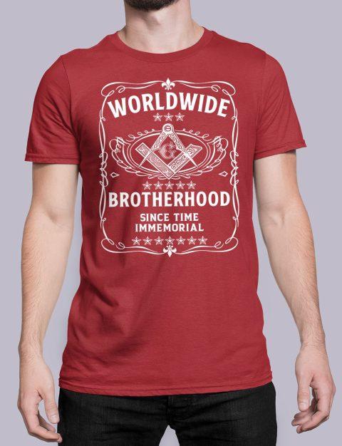Worldwide Brotherhood Masonic Tee-Shirt Worldwide Brotherhood Masonic red shirt 43