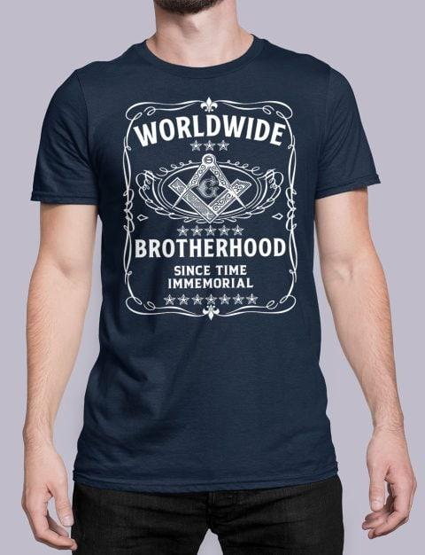 Worldwide Brotherhood Masonic Tee-Shirt Worldwide Brotherhood Masonic vnavy shirt 43