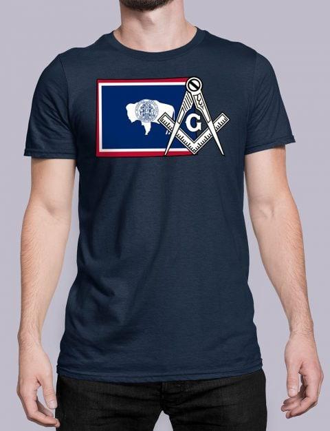 Wyoming Masonic Tee Wyoming navy shirt