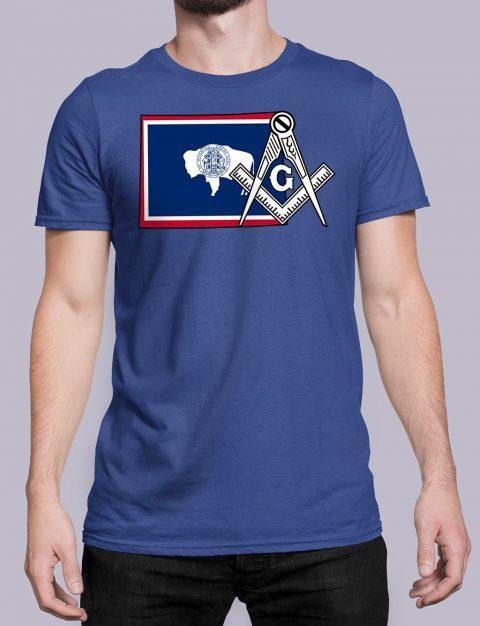 Wyoming Masonic Tee Wyoming royal shirt