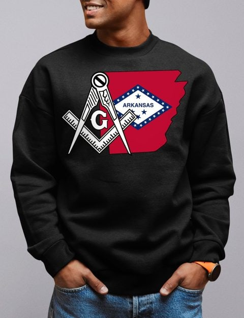 Arkansas Masonic Sweatshirt arkansas black sweatshirt