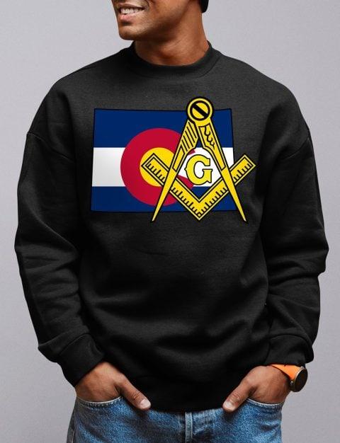 Colorado Masonic Sweatshirt colorado black sweatshirt