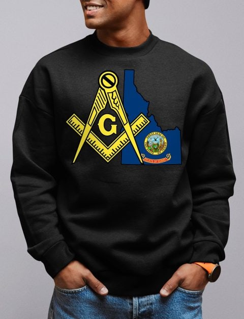 Idaho Masonic Sweatshirt idaho black sweatshirt