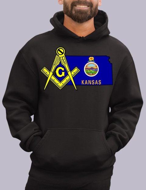Kansas Masonic Hoodie kansas black hoodie