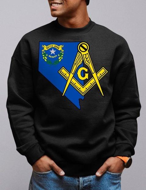 Nevada Masonic Sweatshirt nevada black sweatshirt