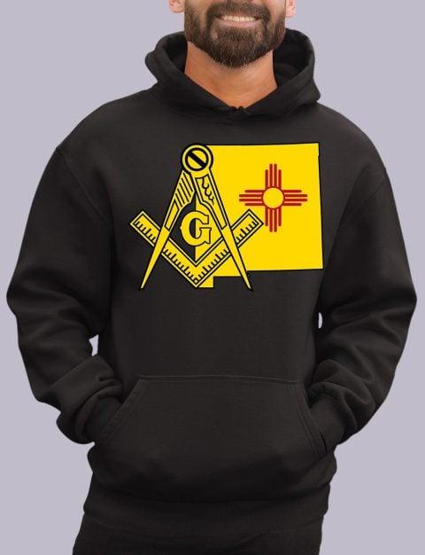 New Mexico Masonic Hoodie new mexico black hoodie