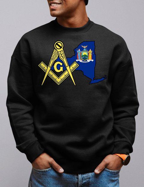 New York Masonic Sweatshirt new york black sweatshirt
