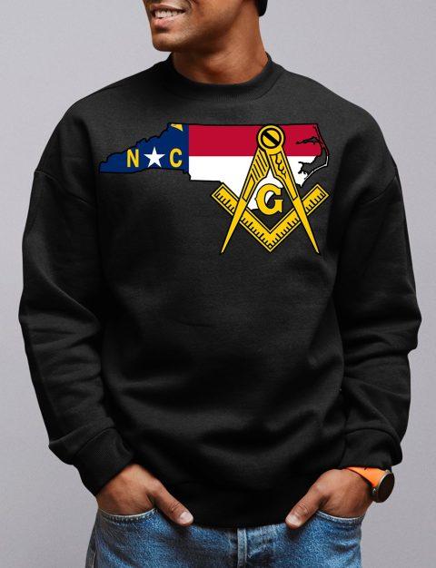 North Carolina Masonic Sweatshirt north carolina black sweatshirt
