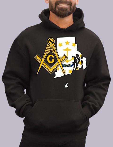 Rhode Island Masonic Hoodie rhode island black hoodie