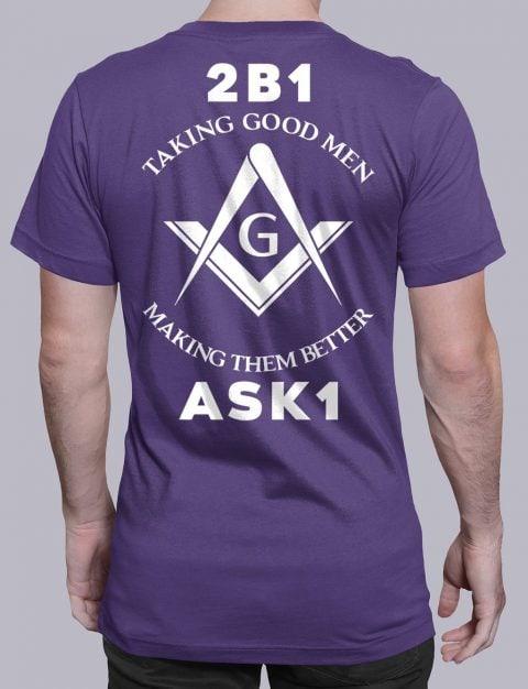 Taking Good Men T-Shirt taking good men purple shirt back 11