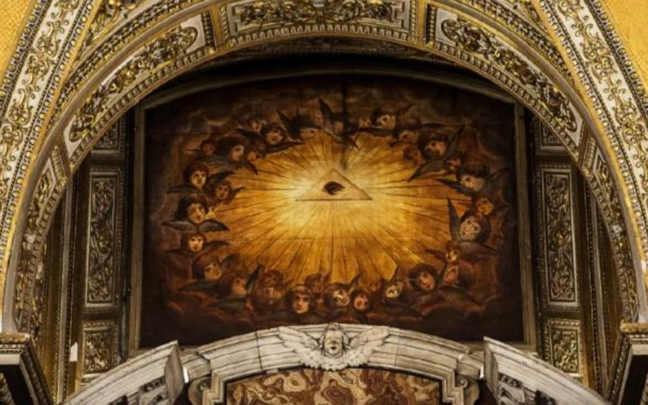 A Deeper Look at The All Seeing Eye The Eye of Providence shown on the wall of a Church