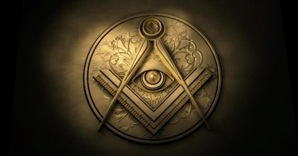 A Deeper Look at The All Seeing Eye The freemason Eye of Providence symbol with the square and compass