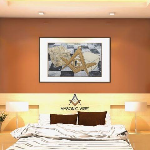 Ashlar Masonic Poster & Canvas Ashlar Unframed Masonic Poster