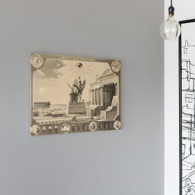 Home The Broken Column Masonic Canvas