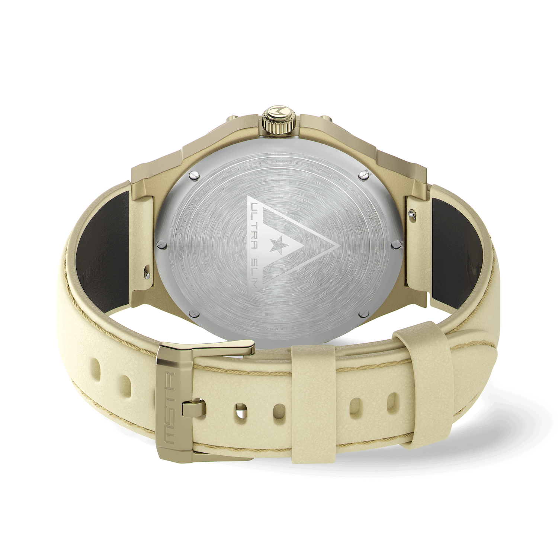 Khaki Gold – Leder