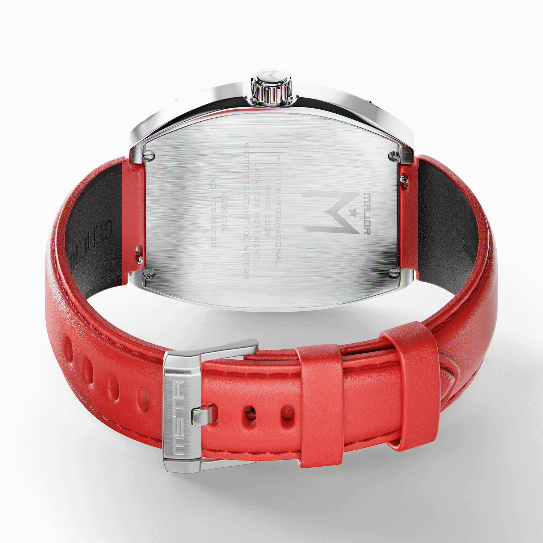 Silber & Rot – Leder