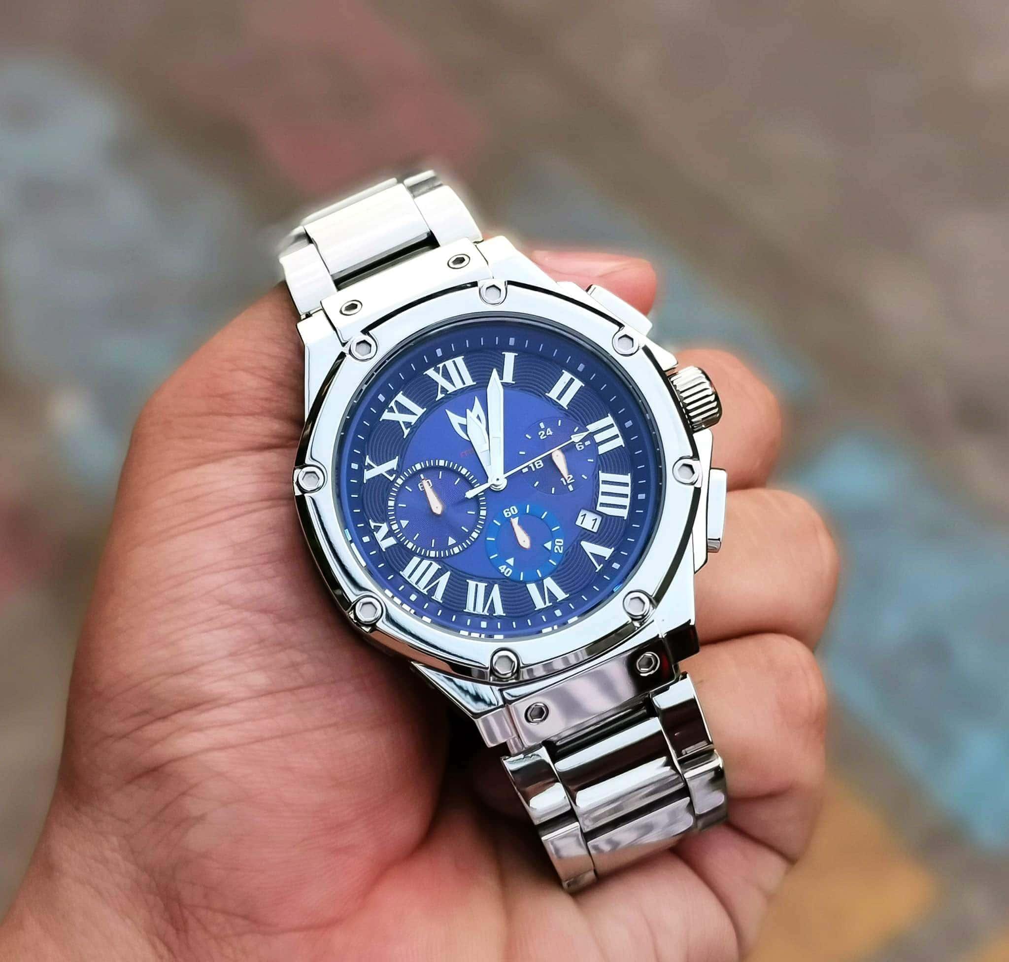 Silver & Blue