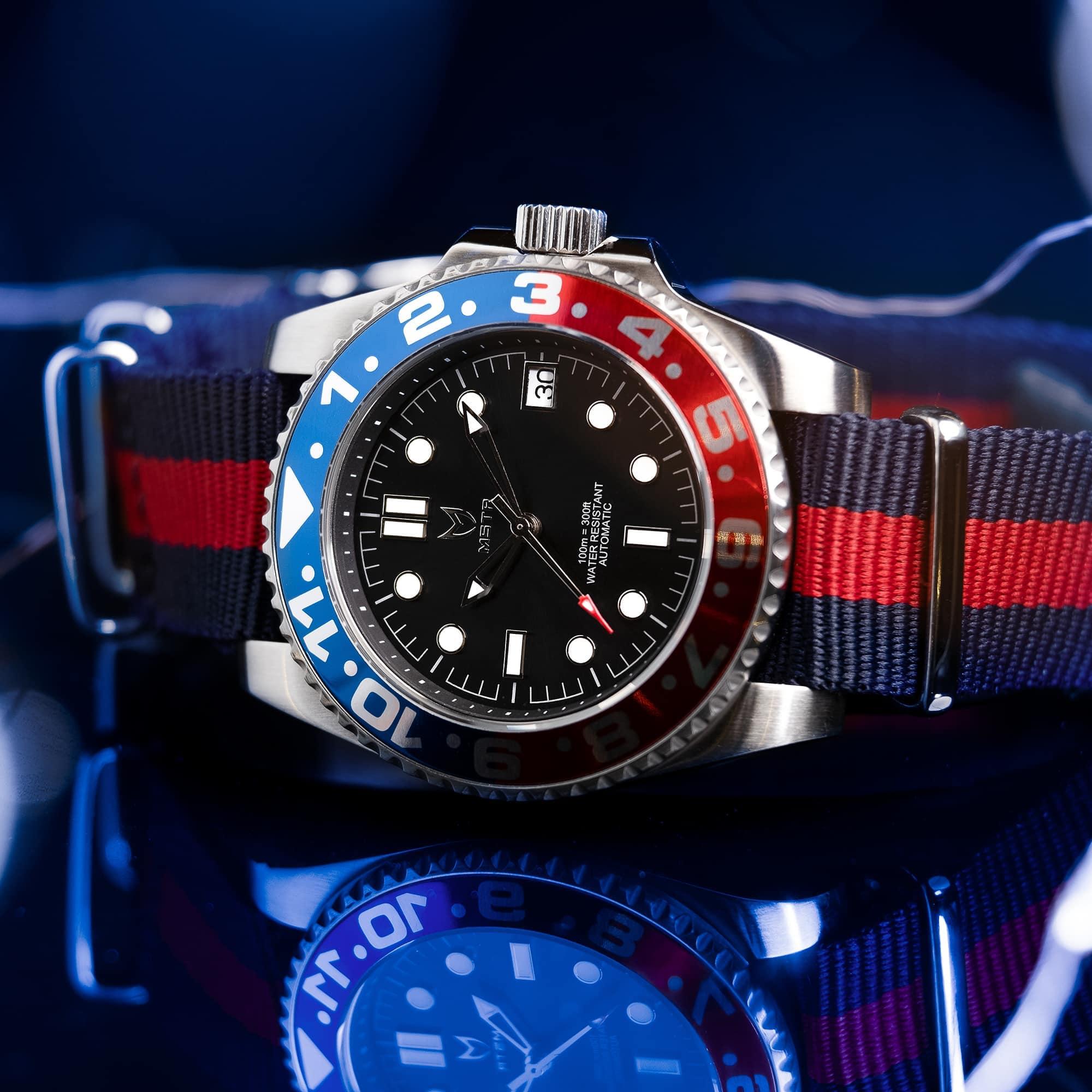 Blue & Red – Nato Strap