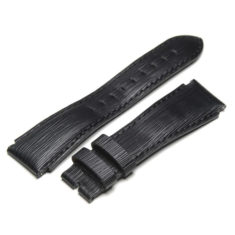 Striped – Black Leather