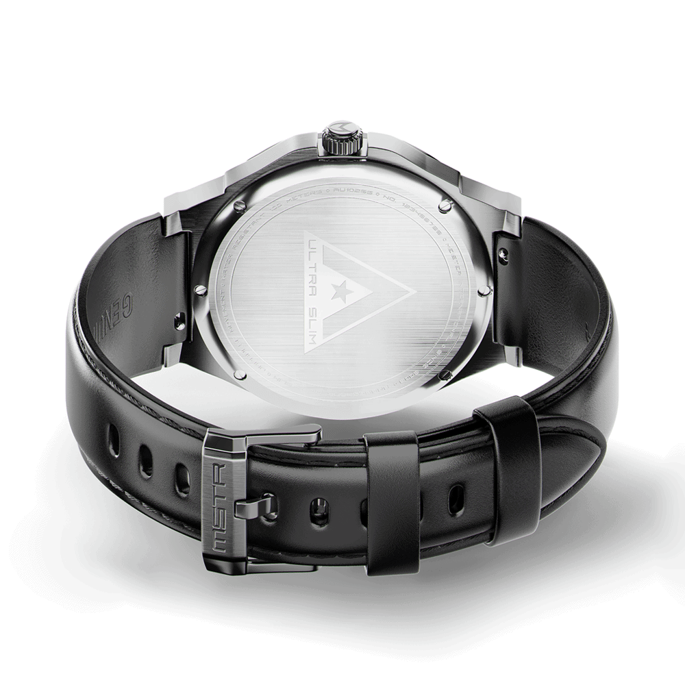 Silver & Black – Leather