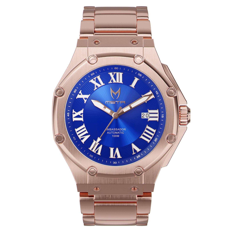 Automatic – Rosé Goud & Blauw