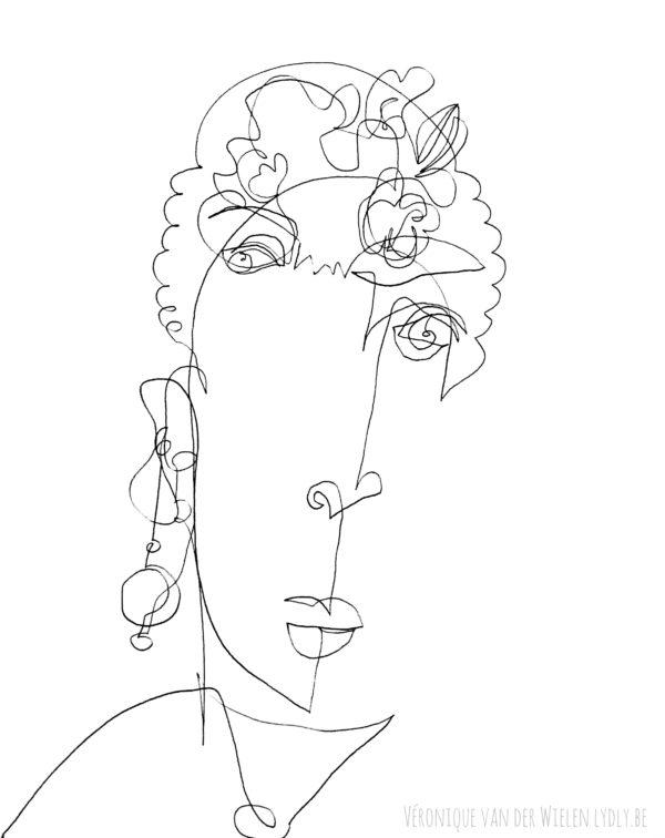 """Portrait """"Les yeux Dans Les Yeux"""" de Frida"""