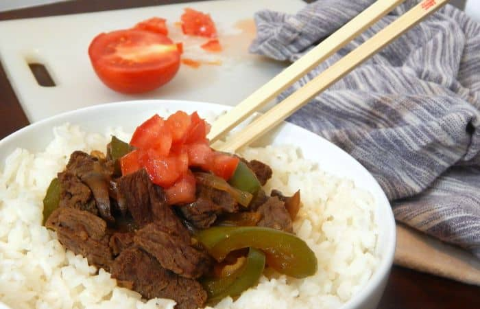 recipe for buffet style pepper steak feature