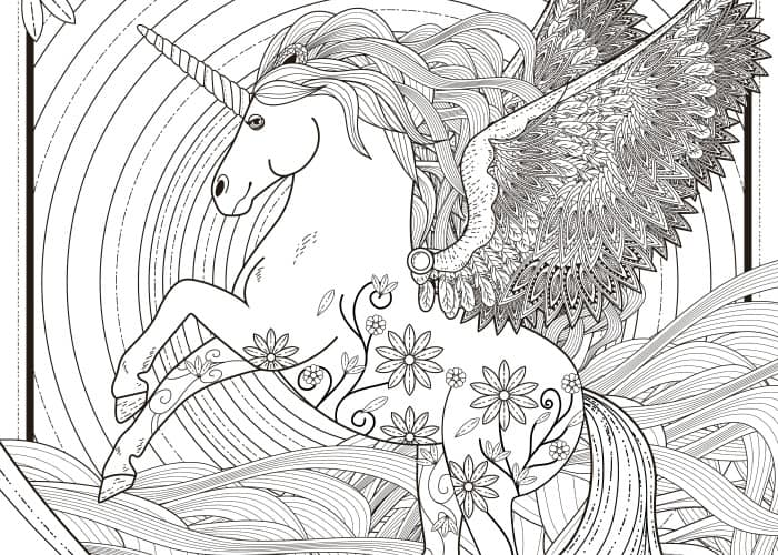 final unicorn coloring page pic