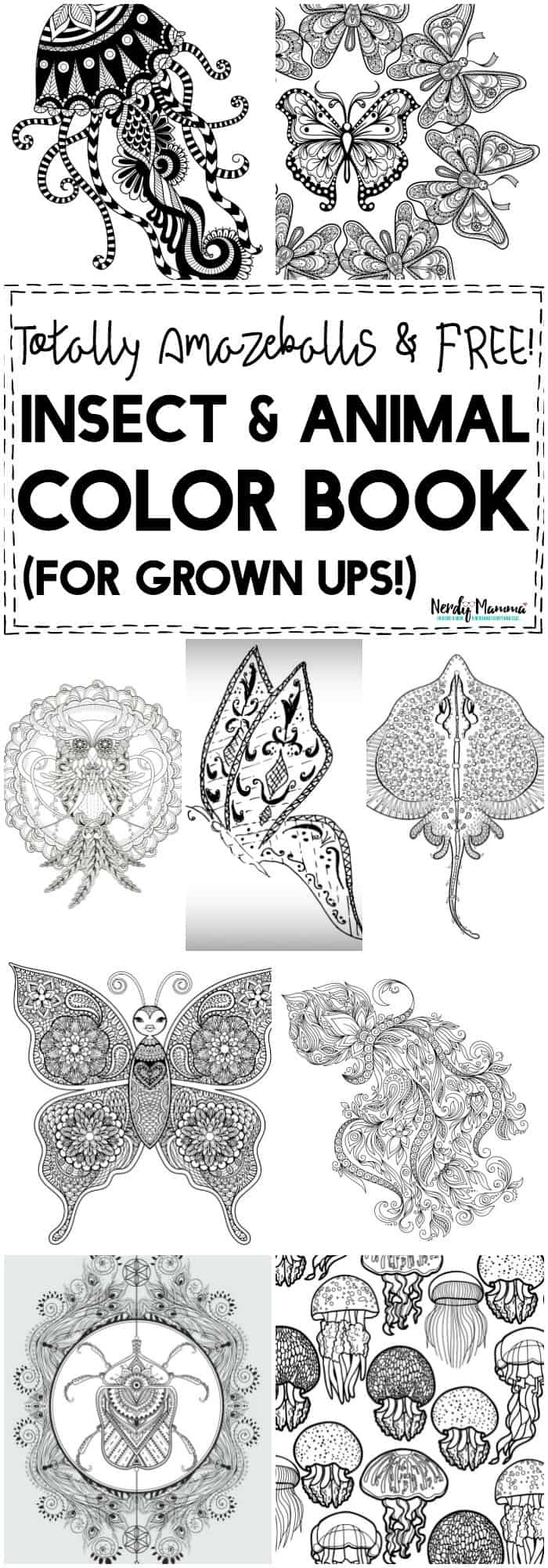 OMG, this TOTALLY FREE adult coloring book is AWESOME. You've got to check this out!