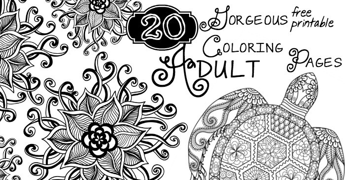 20 gorgeous free printable adult coloring pages fb