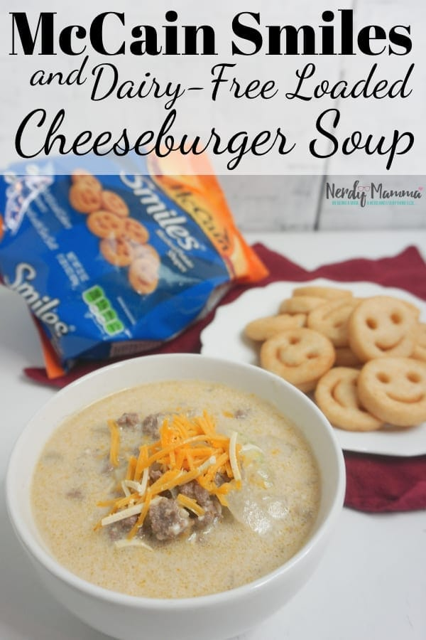 cheeseburger soup with mccains smiles