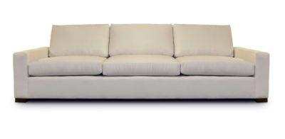 McQueen Beige Contemporary Square Track Arm Sofa